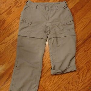 THE NORTH FACE WOMENS GRAY CONVERTABLE PANTS 10